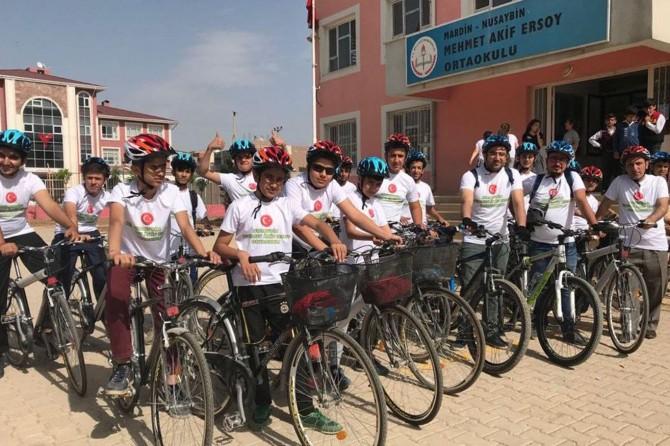 Mardin Nusaybin'de 'Yeşil Pedal' bisiklet gurubu kuruldu