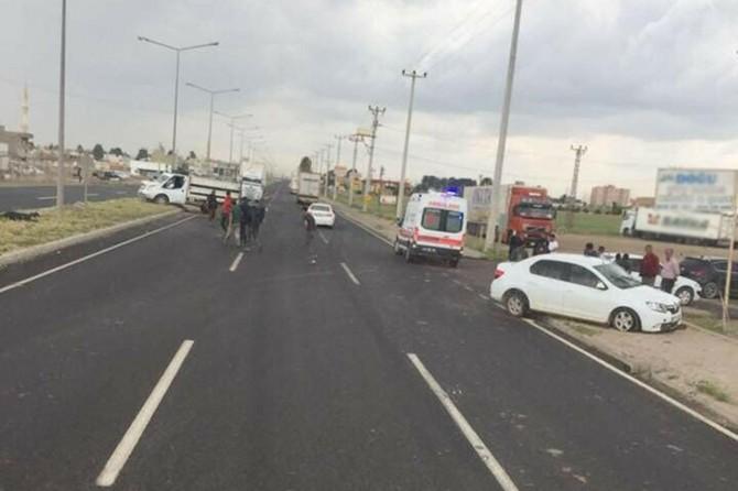 Mardin´in Nusaybin'de maddi hasarlı kaza