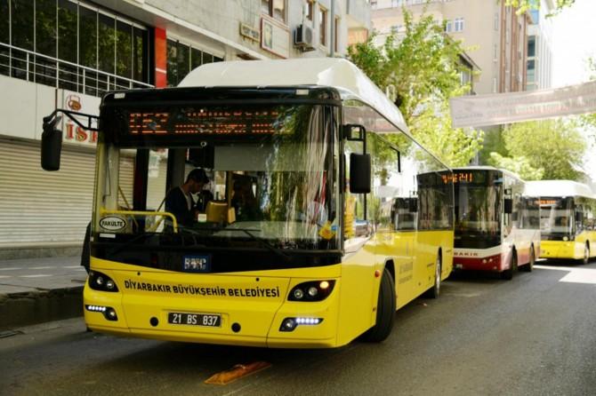 Diyarbakır'da toplu taşıma bugün ücretsiz