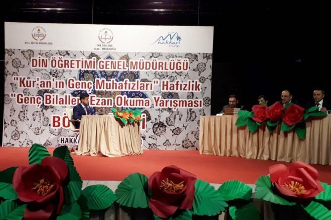 """""""Hafızlık ve Genç Bilaller Ezan Okuma Yarışması"""" bölge finali yapıldı"""