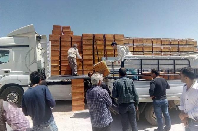 Arı yetiştiricilere arılı kovan ve malzeme dağıtımı yapıldı