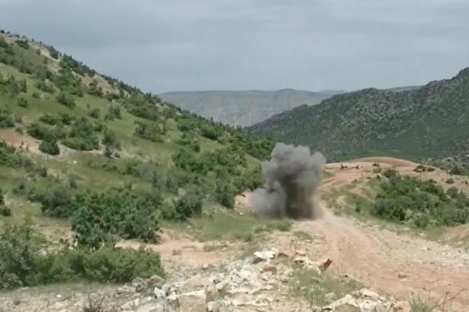 Mardin Savur'da yol kenarına tuzaklanan mayın imha edildi