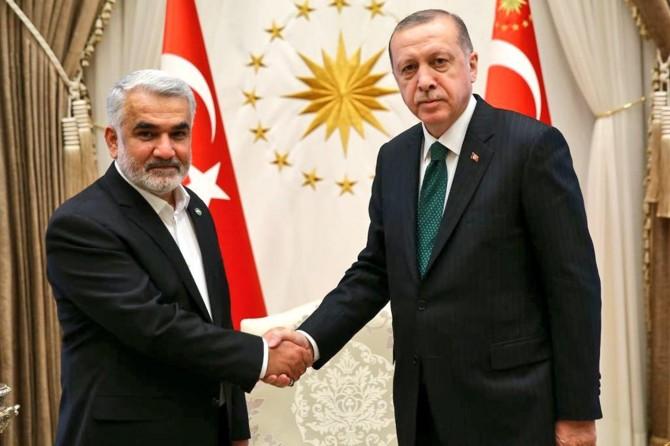 HÜDA PAR Genel Başkanı Yapıcıoğlu Cumhurbaşkanı Erdoğan'la görüştü
