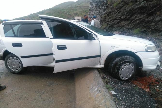 Maden'de maddi hasarlı kaza