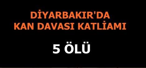 Diyarbakır'da otomobil tarandı: 5 ölü