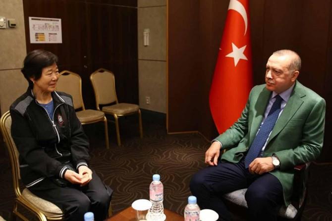 """Cumhurbaşkanı Erdoğan """"Ayla"""" filminin gerçek kahramanıyla görüştü"""