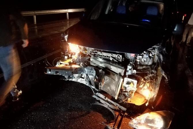 Kovancılar'da maddi hasarlı kaza