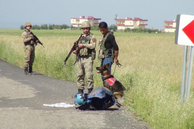 Çınar'da yola tuzaklanmış bomba düzeneği bulundu