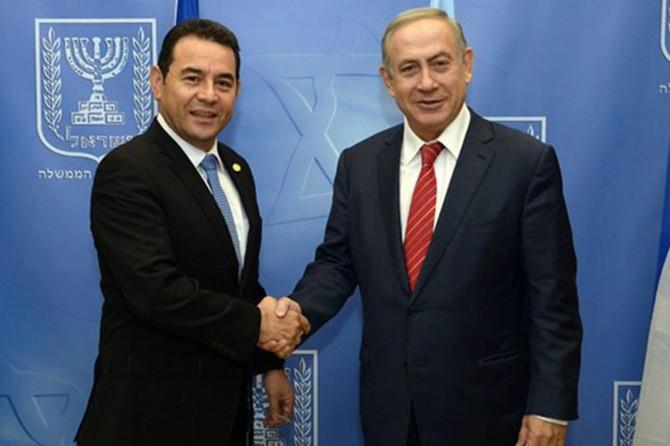 Guatemala da elçiliğini Kudüs'e taşıdı