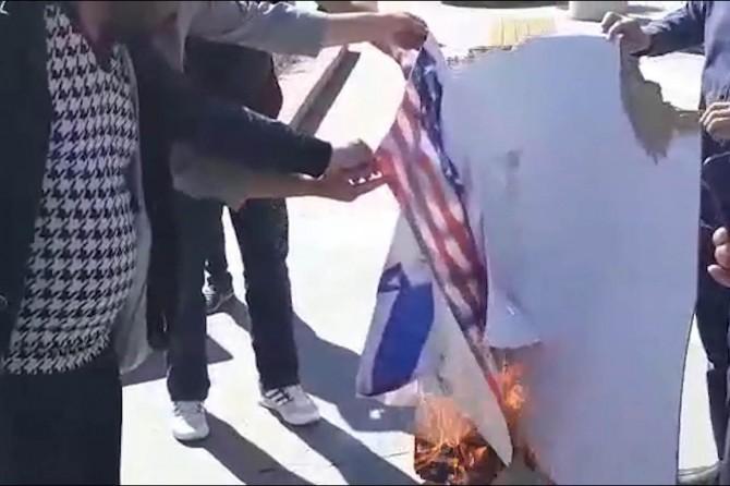 ABD ve siyonist işgalcilere ait paçavralar yakıldı