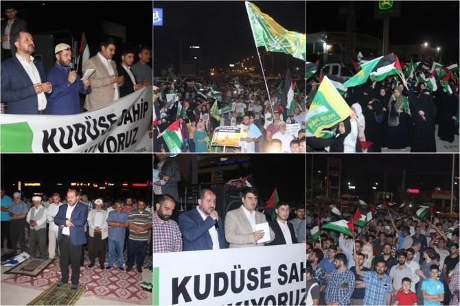 HÜDA PAR ABD ve siyonistleri konsolosluk önünde protesto etti