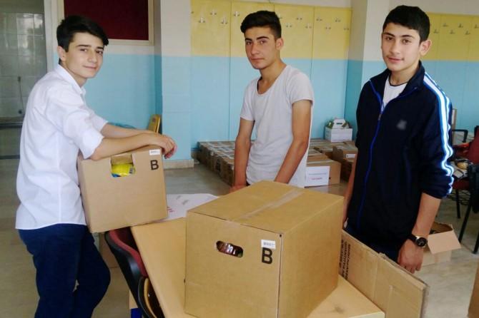 Lise öğrencilerinden anlamlı yardım