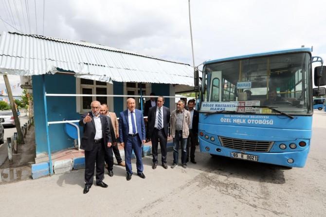 Büyükşehir Belediyesinden özel halk otobüslerine denetleme