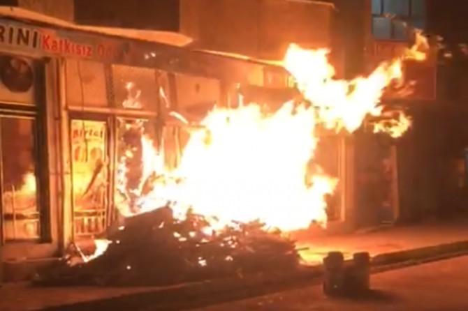 Fırında çıkan yangın hasara neden oldu