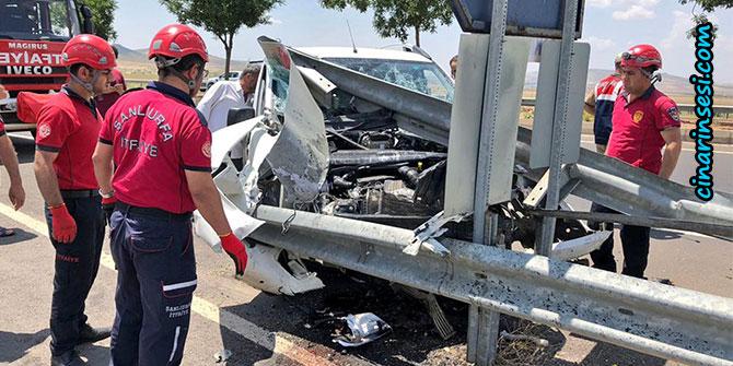 Şanlıurfa'da kontrolden çıkan otomobil kaza yaptı: 1 yaralı