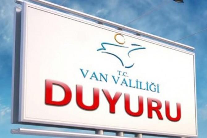 Van'da miting ve gösteriler yasaklandı