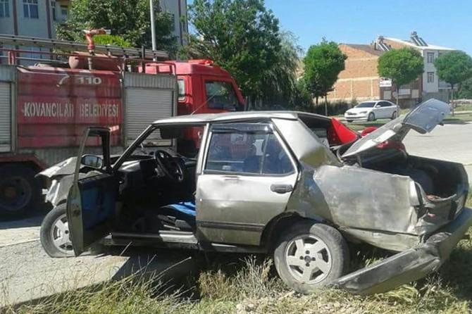Elazığ'da kaza: Bir yaralı
