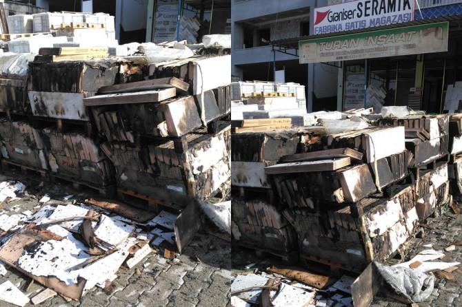 Diyarbakır Çermik'teki işyeri yangını maddi hasara neden oldu