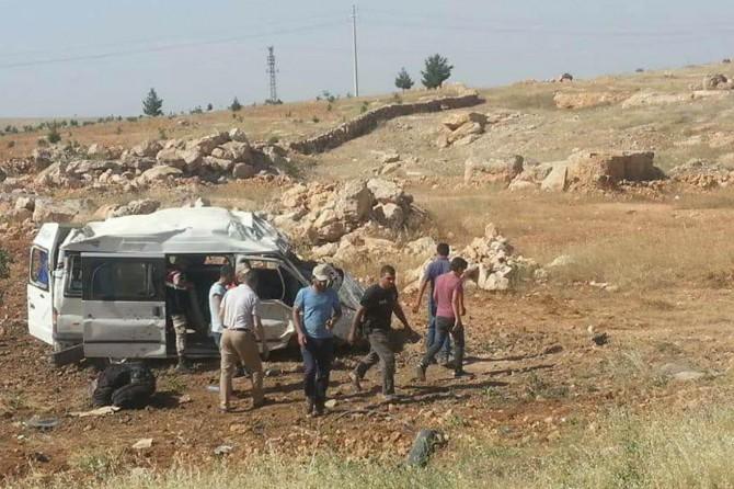 Şanlıurfa Viranşehir'de işçi servisi kaza yaptı: 5 yaralı