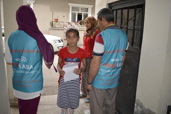 Van İpekyolu'nda ihtiyaç sahiplerine bayram ziyareti