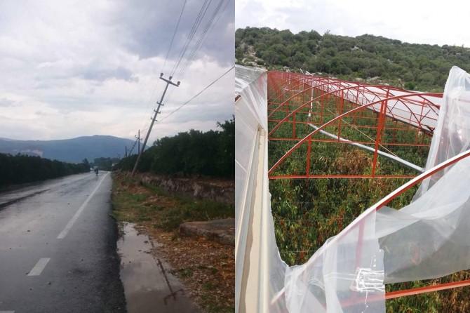 Antalya'da hortum ve dolu yağışı seralara zarar verdi