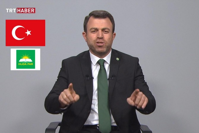 HÜDA PAR Genel Başkanı Yavuz TRT'de propaganda konuşması yaptı