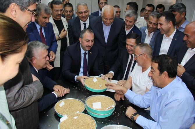 Günün ilk buğday satışını Bakan Gül yaptı