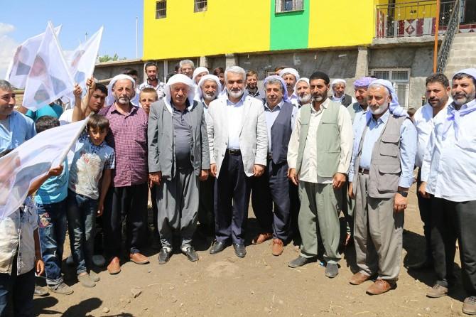 Yapıcıoğlu'ndan Çınar'ın köylerine ziyaret