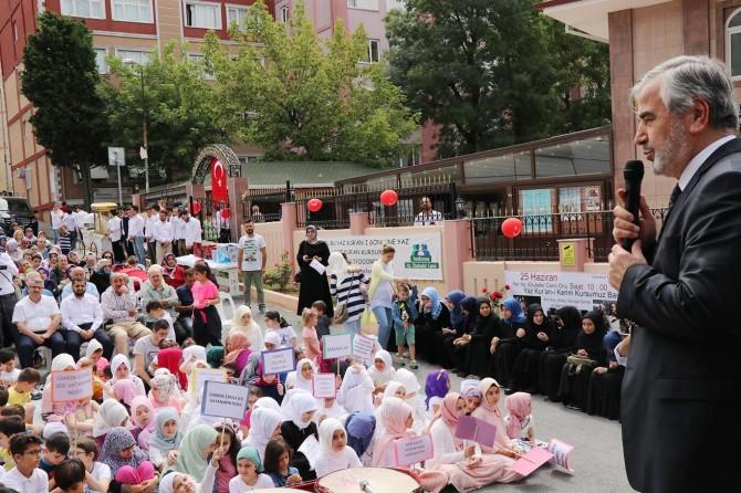 Kur'an kursları Camide Çocuk Sesi Vatanımın Neşesi temasıyla başladı