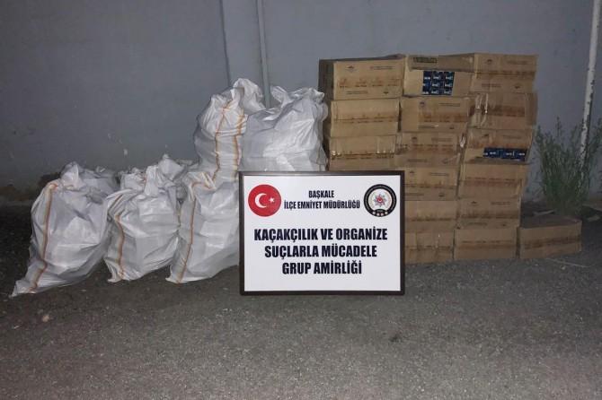 Başkale'de 15 bin paket kaçak sigara ele geçirildi