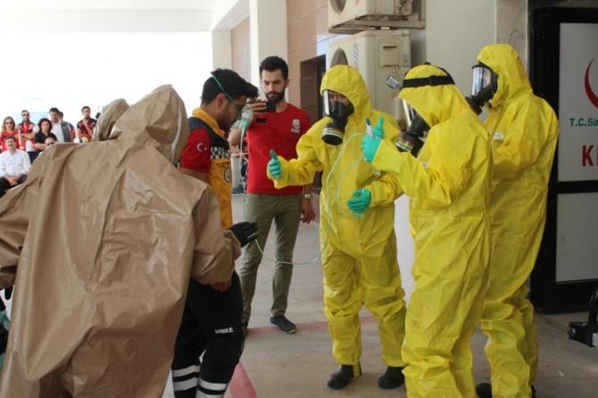Mardin Devlet Hastanesinde gerçeği aratmayan radyasyon tatbikatı