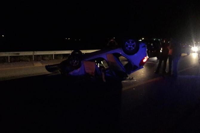 Muş Hasköy'de traktöre çarpan otomobil takla attı: 1 ağır yaralı