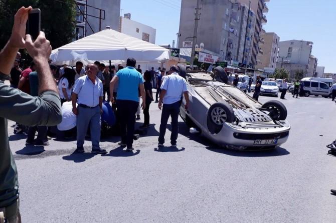 Adıyaman Kahta'da trafik kazası: 3 yaralı