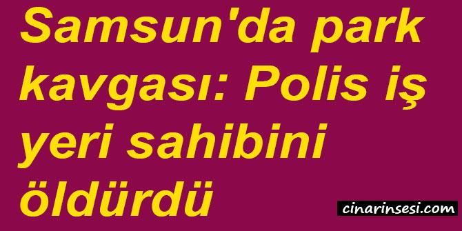 Samsun İlkadım'da park kavgası: Polis iş yeri sahibini öldürdü