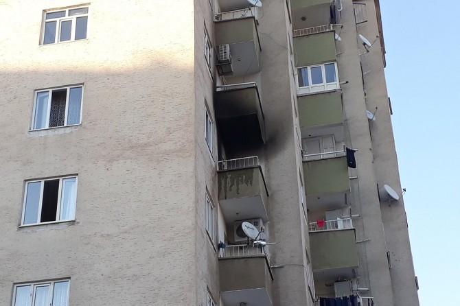 Diyarbakır Huzurevlerinde apartmanda çıkan yangın korkuttu