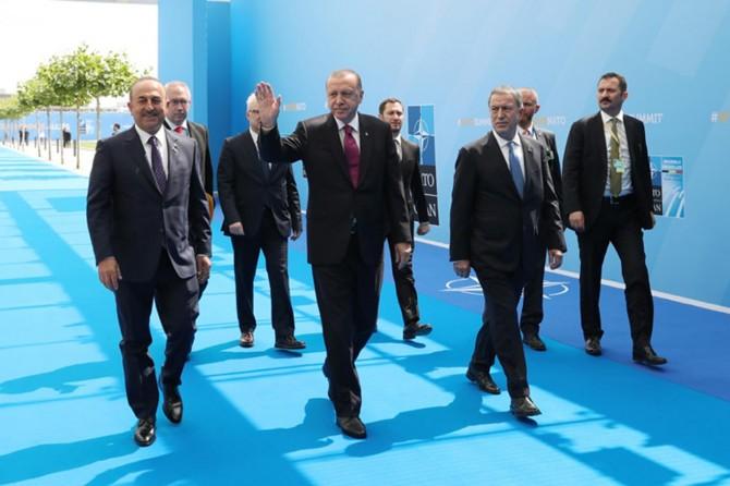 Erdoğan, NATO Zirvesi için Belçika'da