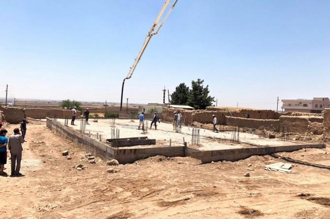 Kızıltepe'de taziye evi çalışmaları sürüyor