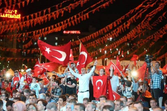 Gaziantep'te 15 Temmuz etkinliği düzenlendi