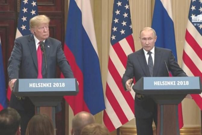 Putin ve Trump'tan ortak basın toplantısı