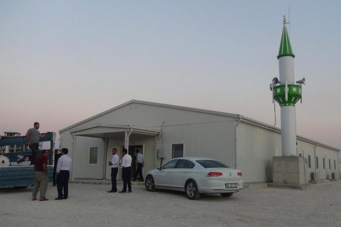 Adıyaman Samsat'ta depremde yıkılan camiler yeniden ibadete açıldı