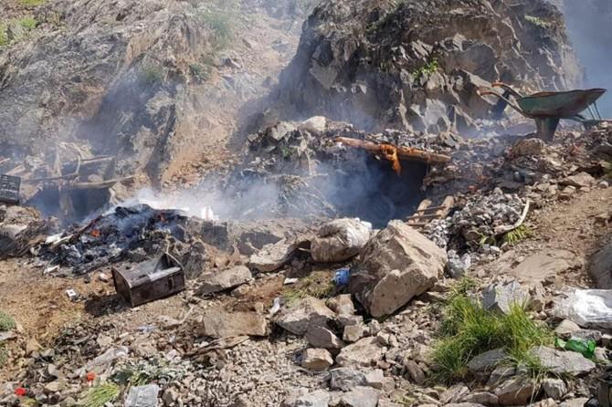 Hakkari'de PKK'ye ait sığınak tespit edildi