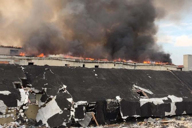 İstanbul Zeytinburnu'nda korkutan yangın