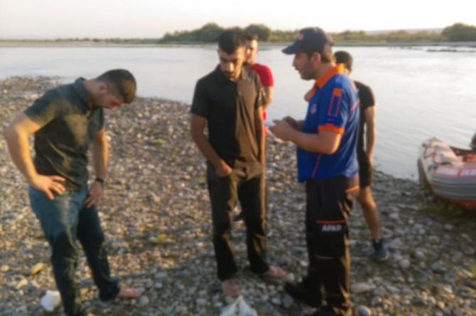 Batman Çayında mahsur kalan 2 genç AFAD tarafından kurtarıldı