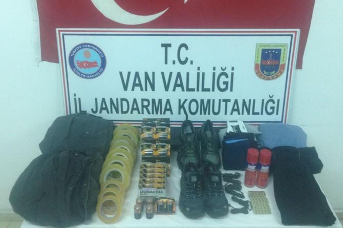 Van Erciş'te patlayıcı yapımında kullanılacak malzemeler ele geçirildi
