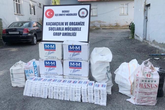 Başkale'de 7 bin 500 paket kaçak sigara ele geçirildi