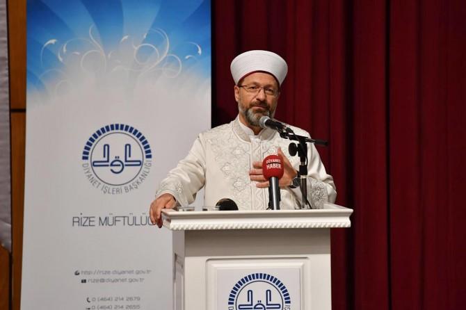Diyanet İşleri Başkanı Erbaş, Rize'de din görevlileri ile bir araya geldi