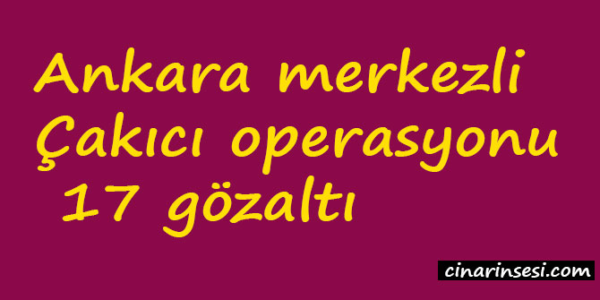 Ankara merkezli Çakıcı operasyonu: 17 gözaltı