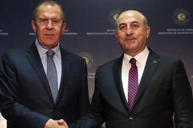 Çavuşoğlu ve Lavrov'dan ortak basın açıklaması
