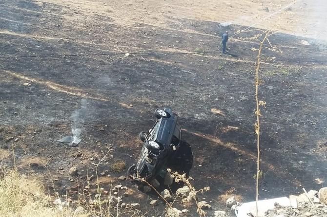 Elazığ Palu'da kaza yapan araç alev aldı: Biri ağır 2 yaralı