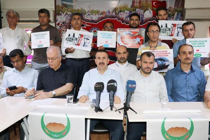 Gaziantep'te STK'lardan ABD mallarına boykot çağrısı